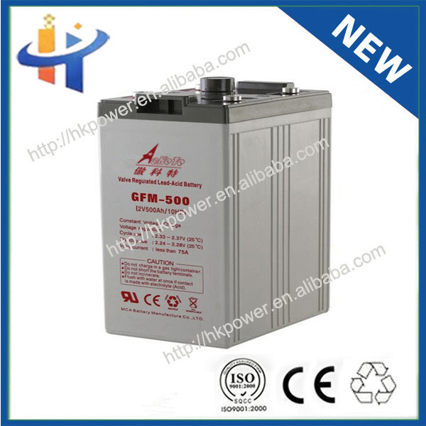 China Manufacturer Hiking High Level lead acid battery 2v 500ah