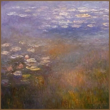 Handmade Monet beautiful scenery oil painting on canvas
