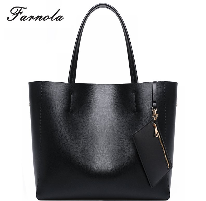 China Supplier Western Style Genuine Leather Shoulder Bag Women Tote Hand Bag Designer Handbag Ladies 2016