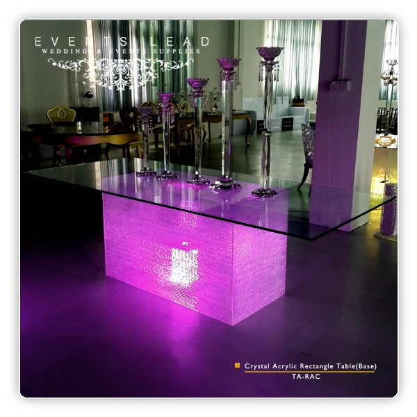 Crystal Acrylic Rectangle Dinning Table (Base)