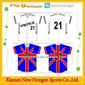 fashionable baseball jersey china custom full button baseball jersey