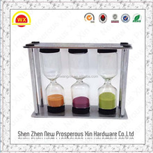 Wholesale of hourglass custom made 1-5 minute water timer shower