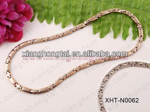 2013 cheap wholesale triple braided titanium sports necklace health and fashion jewelry