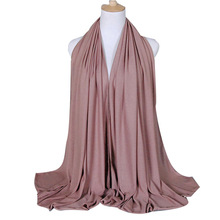 Promotional beautiful wholesale women jersey fashion muslim hijab scarf