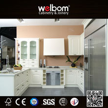 2017 Welbom Hot Modular PVC Kitchen Cabinets in Flat Pack from China