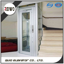 Low price small building glass home elevator lift