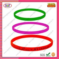Candy silicone rubber wrist bands with custom logo