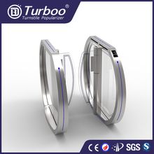 Turboo turnstile B3011: automatic waist height access control swing gate with fingerprint scanner