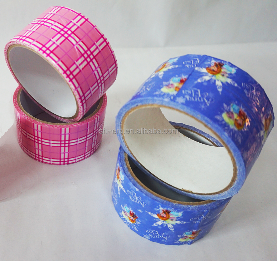 waterproof cloth duct tape with printed logo for gift decoration