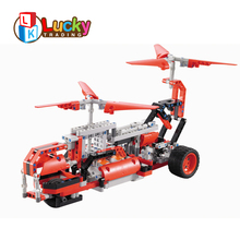 educational children USB charging mode electric building rc car 2.4g with creative design