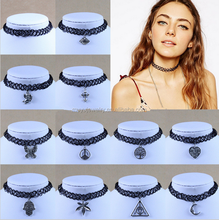 New Vintage Stretch Tattoo Choker Necklace Gothic Punk Pendant Necklaces