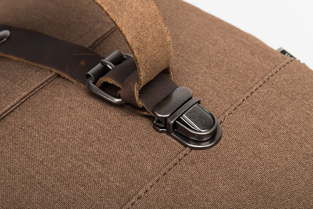 2016 OEM custom laptop mens canvas shoulder messenger bag with leather trim
