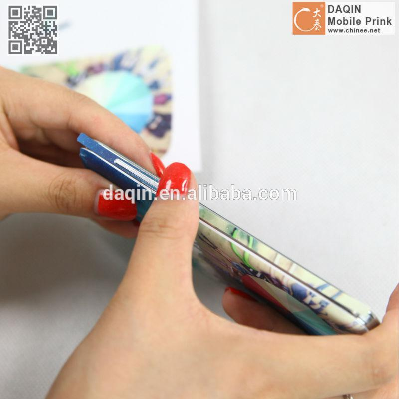 Glow in the dark mobile phone case skin making machine for small business
