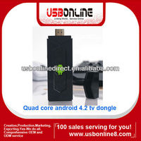 Quad core HDMI mini Android 4.2 TV dongle/Android TV box