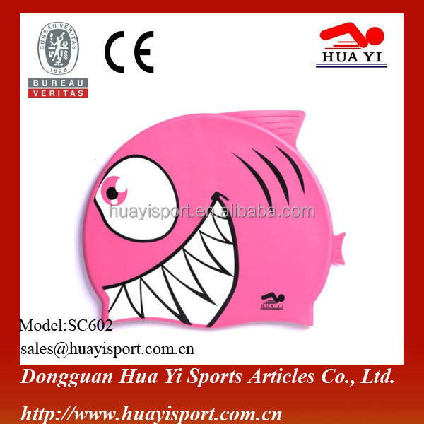 Water sport Cartoon baby girl swim cap silicone custom