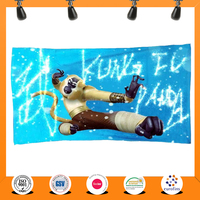 2016 china factory Cheaper customized printed animal beauty cotton beach towels