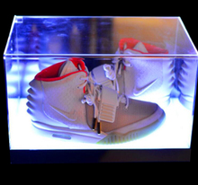Factory Direct Clear Acrylic Plexiglass Led Light Shoe Display Box