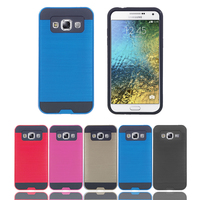 Wholesale Innovative Pure Color Durable PC + TPU Tough Armor Mobile Phone Case for Samsung Galaxy E5