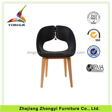 YMG-9303B Leather Wooden Frame plastic chair weight