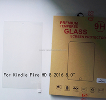 Top quality 9H Tempered Glass screen protector for Amazon Kindle Fire HD 8 2016 8.0""