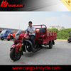 heavy duty tricycle with two seats and big cargo box for heavy product loading