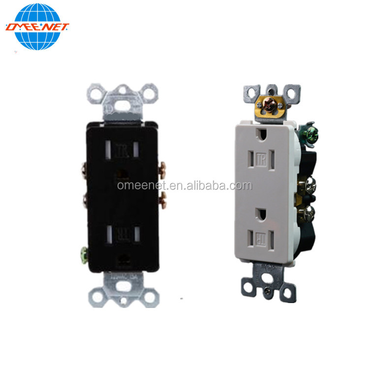 Wall Receptacle 15A 125V Decorative Electrical Wall Socket Outlet Tamper Resistant