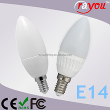 aluminum/plastic led candle bulb, C37 3w dimmable e14 led, 3w 4.5w led candle bulb with CE&RoHSpls
