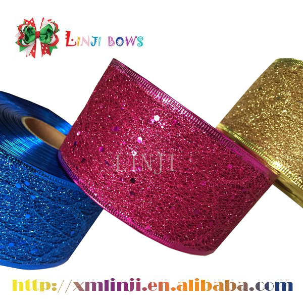 2016 Hot sale factory supply christmas celebrate it ribbon for Holiday decoration
