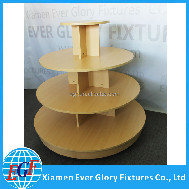 3 Tier Bamboo and Metal Floor Display Stand