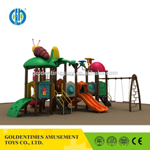 Good quality colorful style outdoor playground for plastic garden