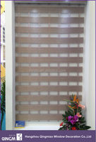 Zebra Blind For Window Preventing Sunshine Ladder Pattern 8-Folded Zebra Blind Fabric