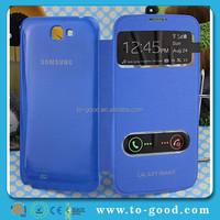 Double Window View Flip Cover For Samsung Galaxy Note 2,Smart Cover Case For Samsung Galaxy Note 2