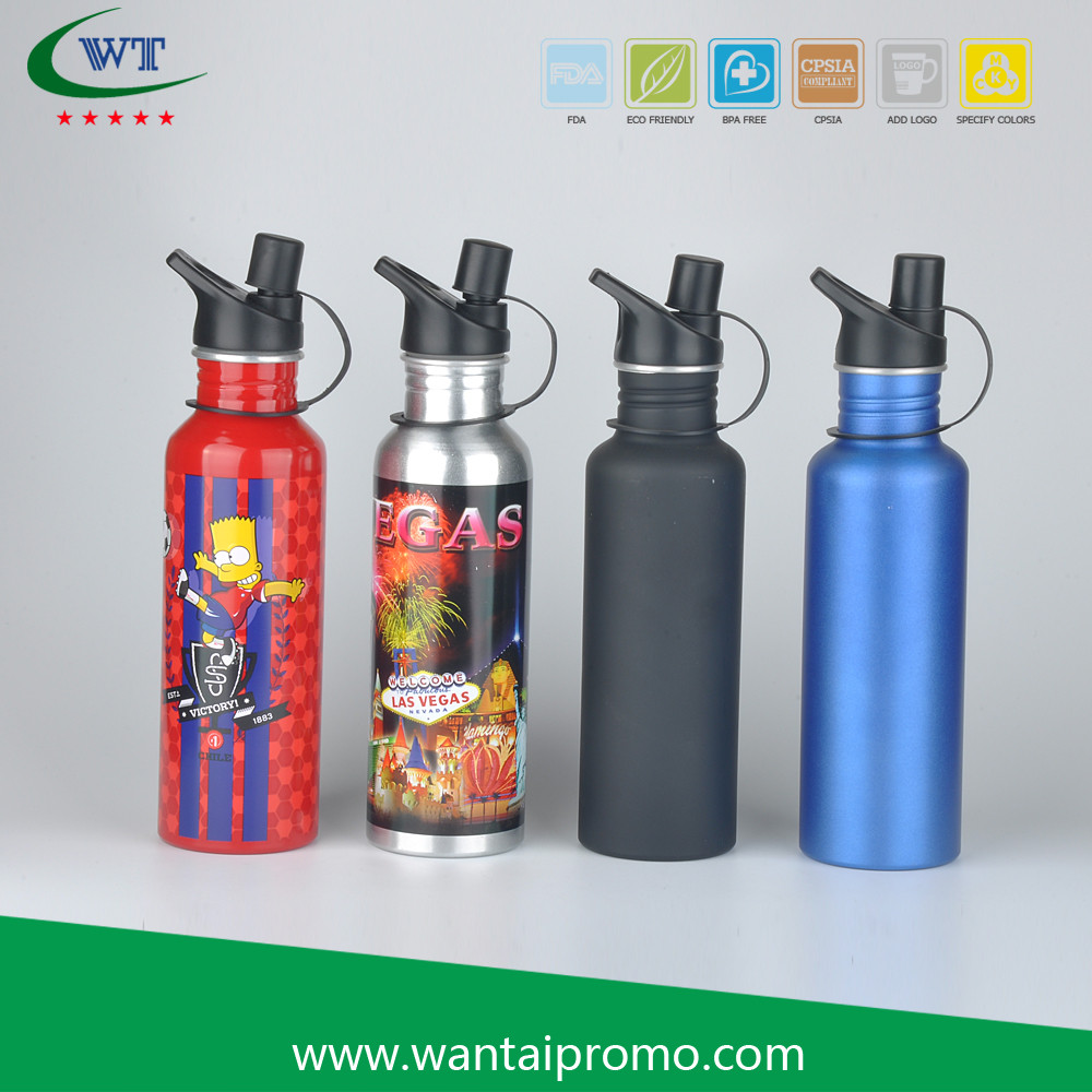 Custom Printing Aluminium Sport Drink Clear Water Bottle