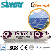 solar cell panel clear and white packaging silicone sealant