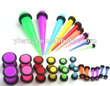 Hot Selling Acrylic Ear Taper Stretching Kit,Color Taper and Plugs