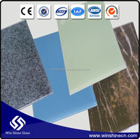 high quality best price clear ceramic fritted laminated glass tempered glass with ceramic frit fire rated glass