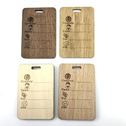 custom Widely Used for Fashionable Gift decoration wooden hang tags with your own design