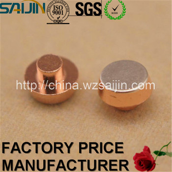 Manufacture Copper Contact Switch Silver Bimetal Rivet Points with RoHS Approved
