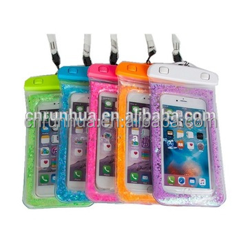 2017 fashion High Quality Universal Water Proof PVC Mobile Phone Cases Waterproof