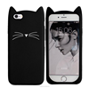 Rubber Beard Cat Phone Case For iPhone 7 6s 6 5s 5 Silicone Cat Phone Case