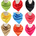 New arrival polyester solid square scarf for commerical scarf