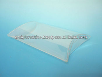 Clear Plastic Pillow Boxes with Snap Locks
