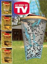 disposable red top hanging fly away trap bag as seen on tv