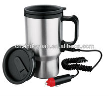 12v stainless steel electric heated travel mug
