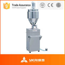 GS-2 pneumatic filling and sealing machine for small business using, small pneumatic filling and sealing machine