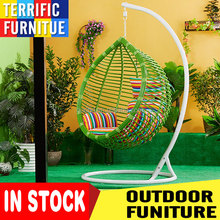 In stock Unique egg shape outdoor single seat hanging garden swing