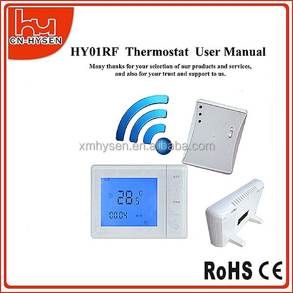 Wireless Programmable Digital Room Thermostat rf transmitter and receiver
