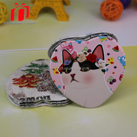 Latest wholesale Fashion foldable crystal makeup mirror cute gift mirror