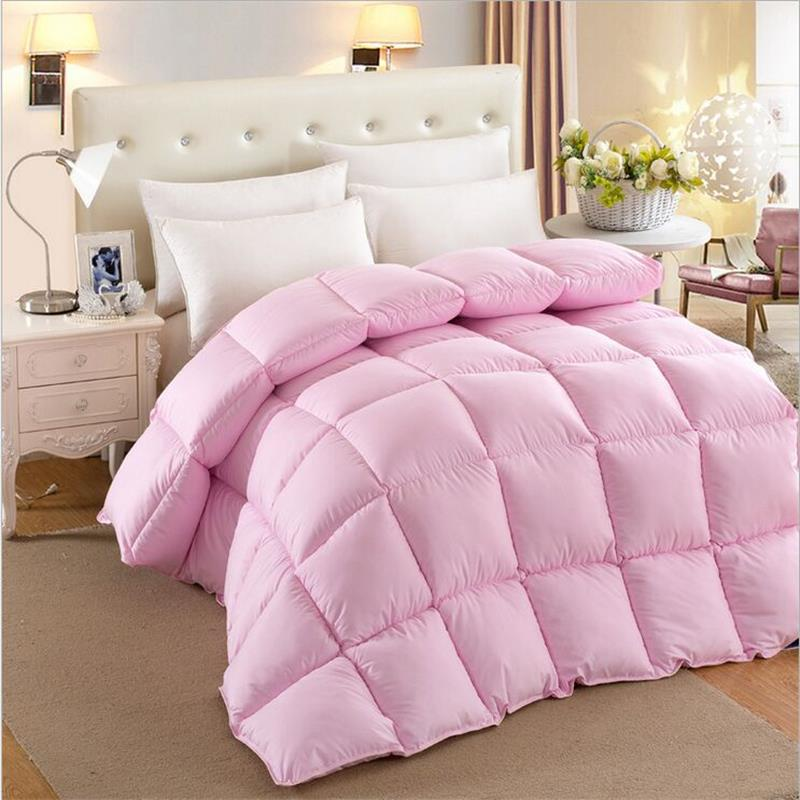 home textile Reversible Microfiber Square Stitching Comforter - Full/Queen
