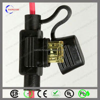 inline water resistant blade type car fuse holder